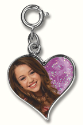 Hannah Montana Double Sided Heart Charm