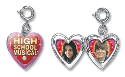 High School Musical Heart Locket Charm.