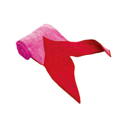 "Fin towel ""Mermaid"" Pink Kathe Kruse"