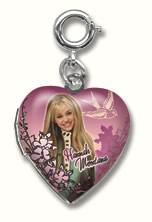 Hannah Montana Heart Locket Charm