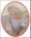 Small Guardian Angel Waldorf Doll with Silver Accent (SKU: 38760)