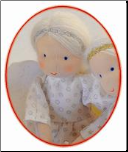 Small Guardian Angel Waldorf Doll with Silver Accent