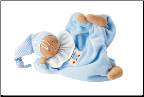 Kathe Kruse Waldorf Gugguli Light Blue Doll (SKU: 73510)