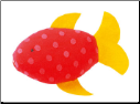 Kathe Kruse Squirting Fish with Yellow Fin (SKU: 82322)