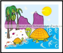TURTLES AT THE BEACH (SKU: AW1)