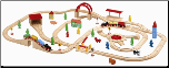 Wooden 100 pc. Train Set in Storage Box